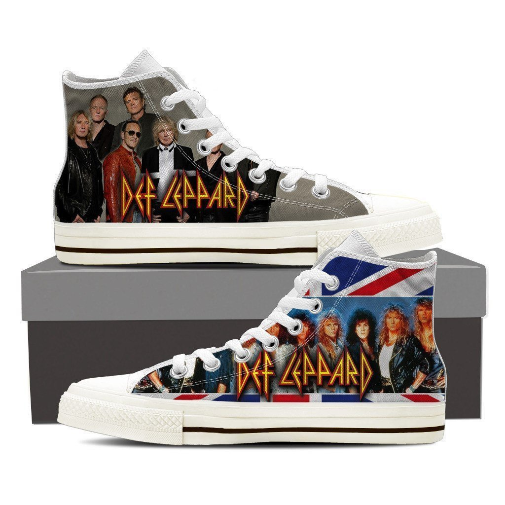 def leppard mens high top sneakers