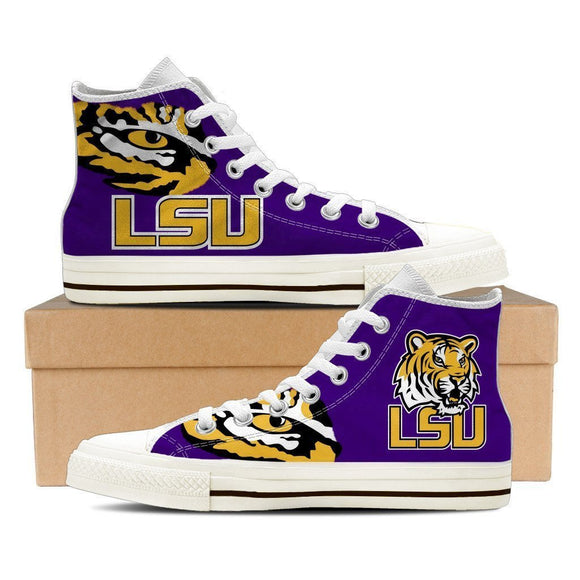 lsu tigers ladies high top sneakers