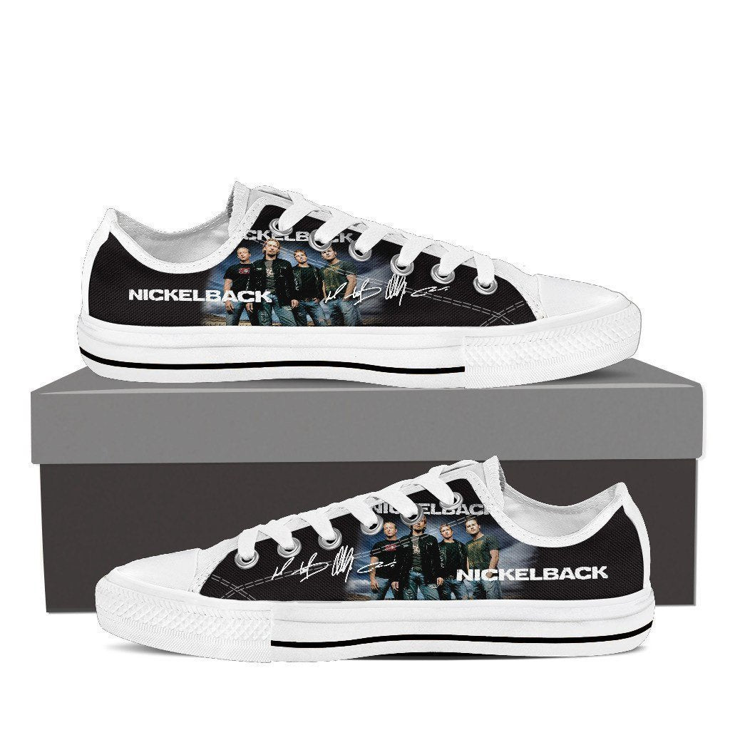 nickelback mens low cut sneakers