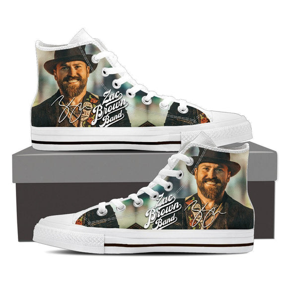 zac brown band ladies high top sneakers