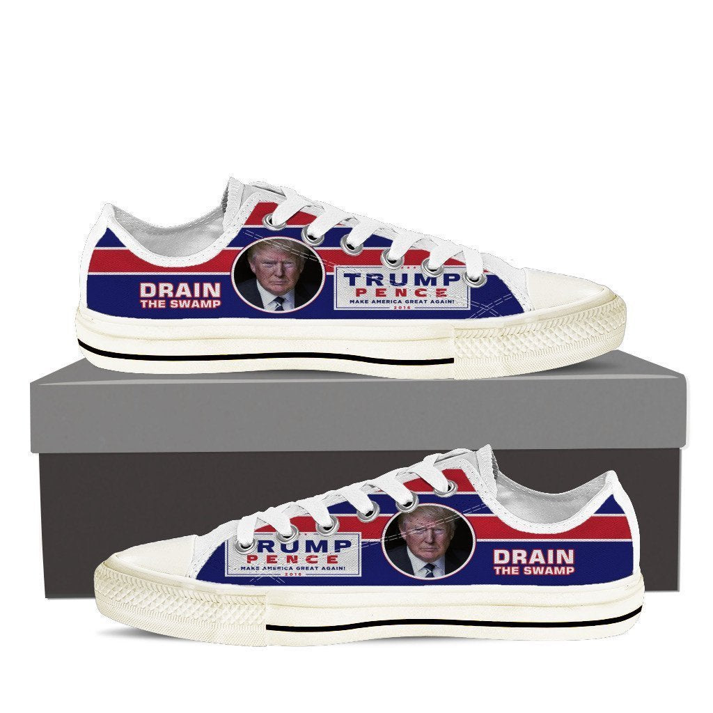 drain the swamp mens low cut sneakers cut