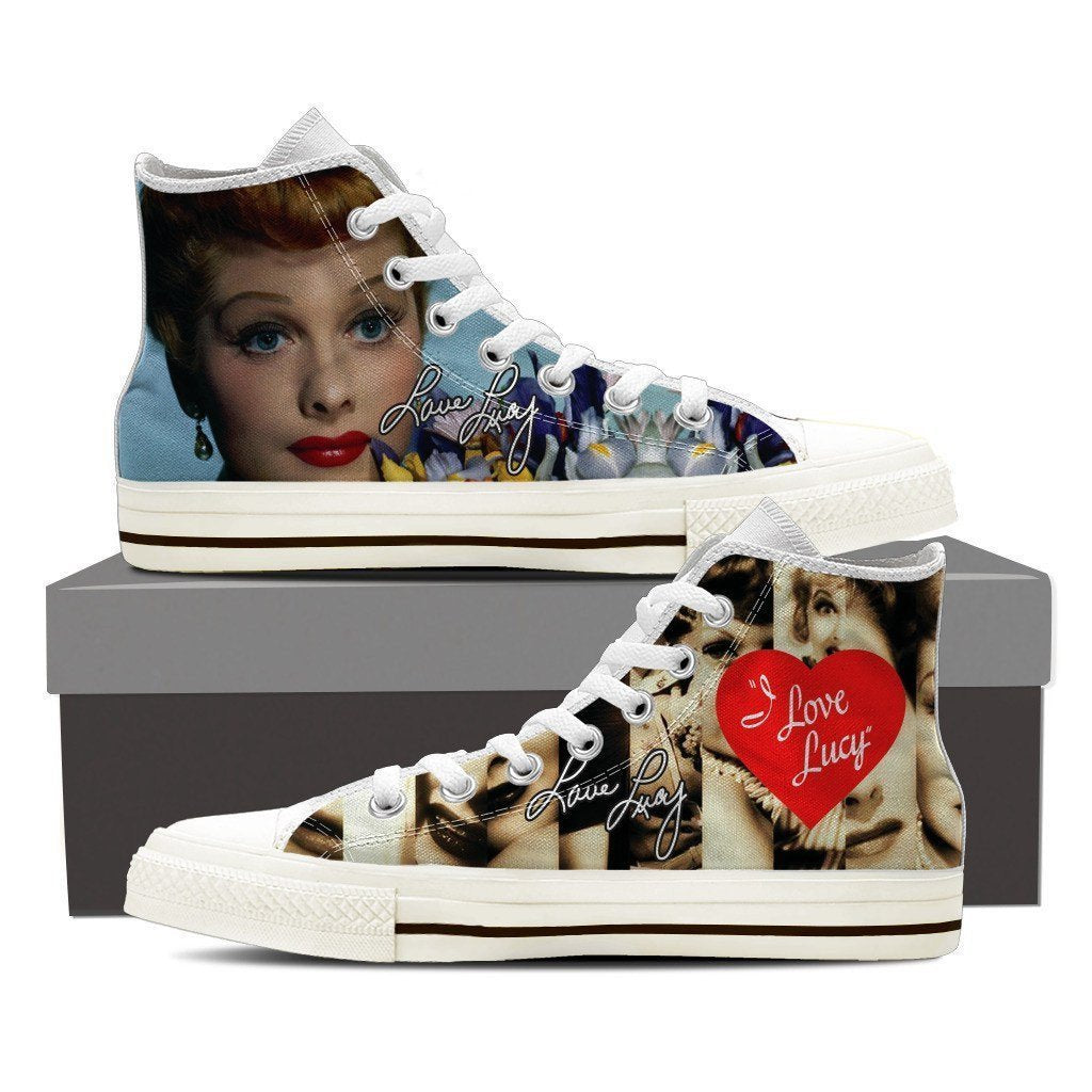 lucille ball ladies high top sneakers