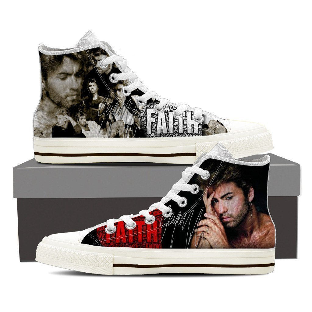 george michael  ladies high top sneakers