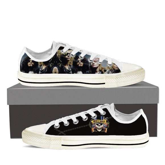 guns n roses ladies low cut sneakers