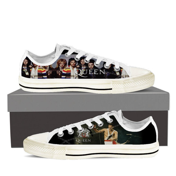 queen band mens low cut sneakers