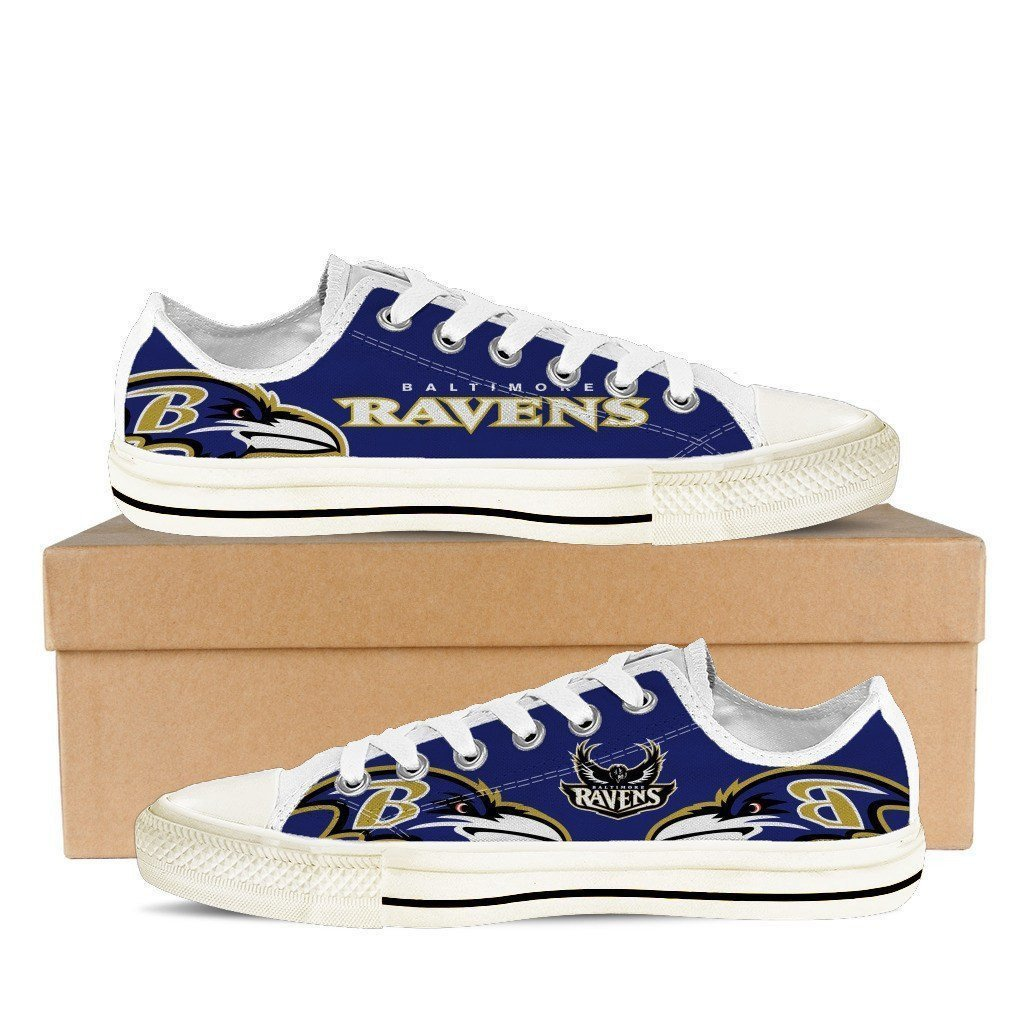 baltimore ravens ladies low cut sneakers