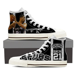 tim duncan ladies high top sneakers