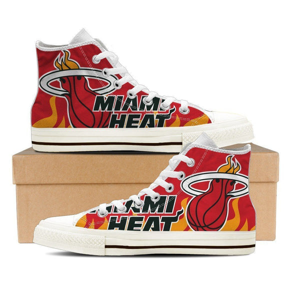 miami heat ladies high top sneakers