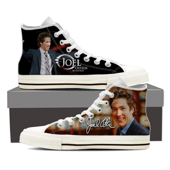 joel osteen ladies high top sneakers