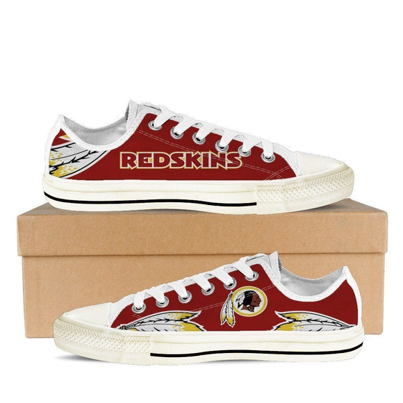 washington redskins mens low cut sneakers cut