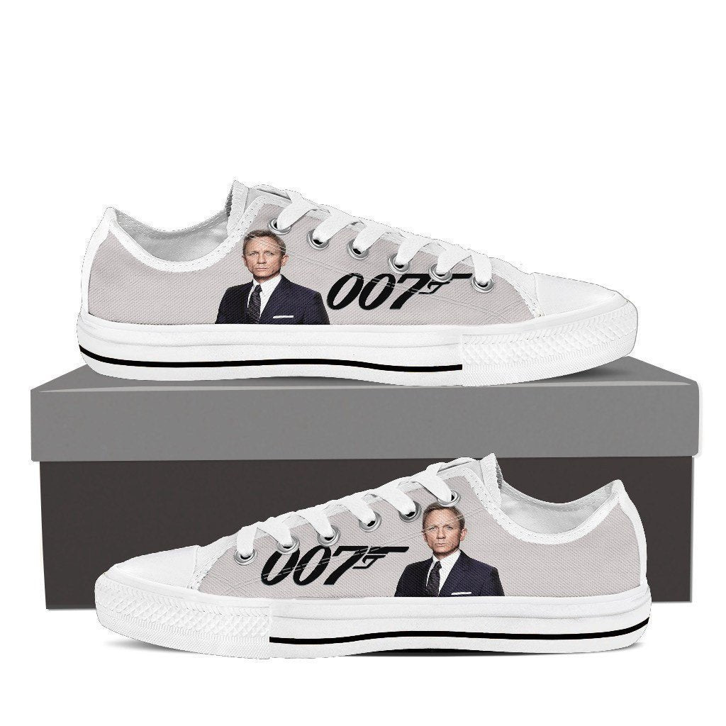 james bond mens low cut sneakers