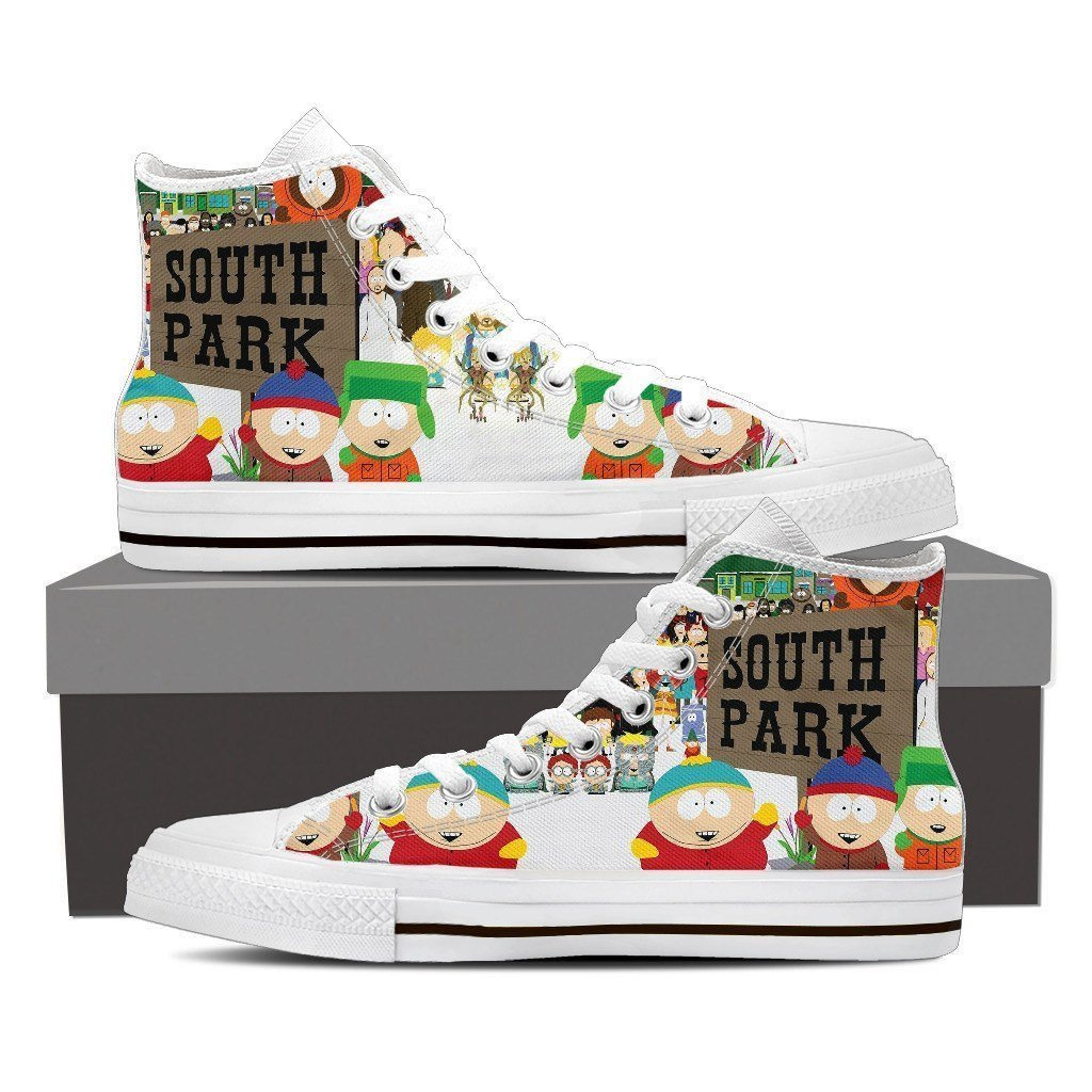 south park mens high top sneakers