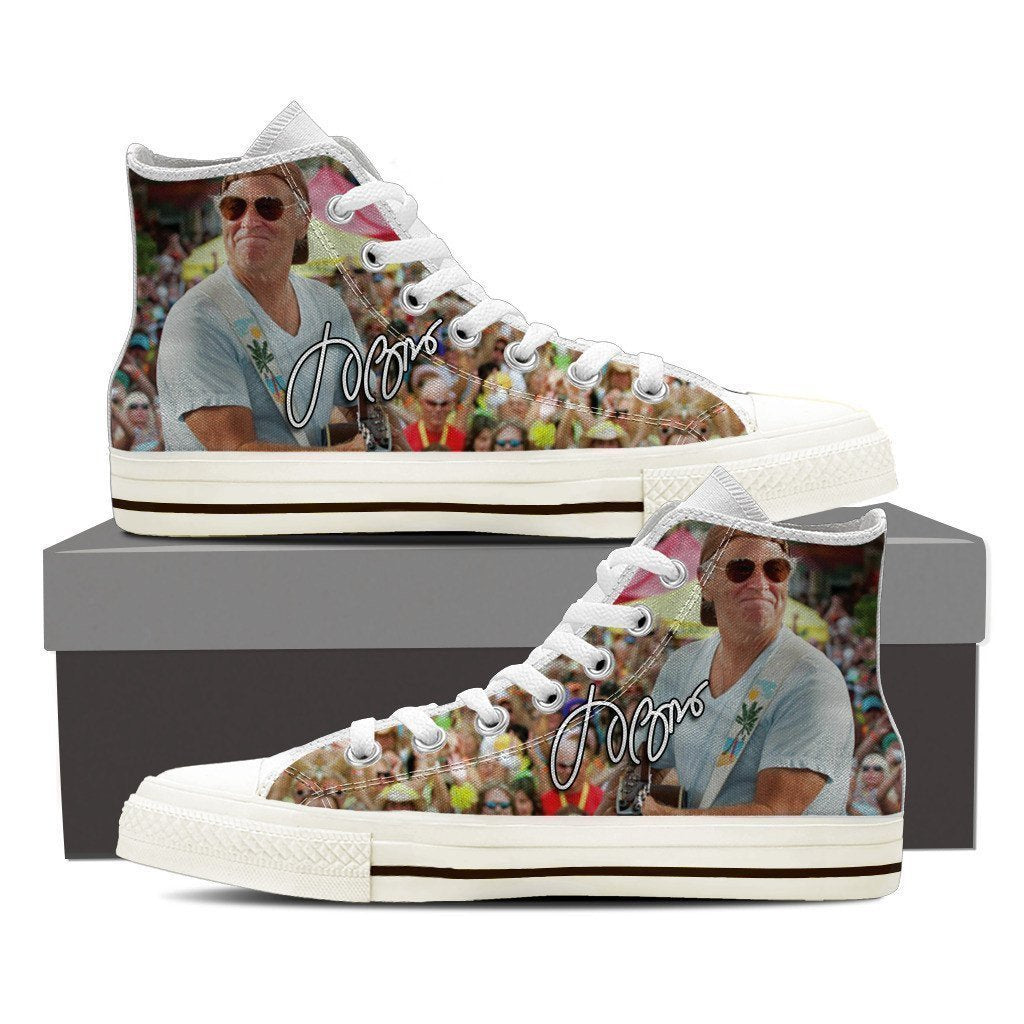 jimmy buffett ladies high top sneakers