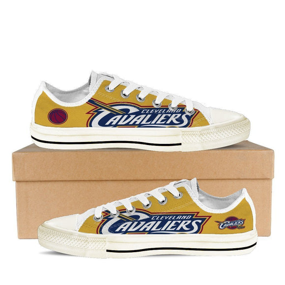 cleveland cavaliers ladies low cut sneakers