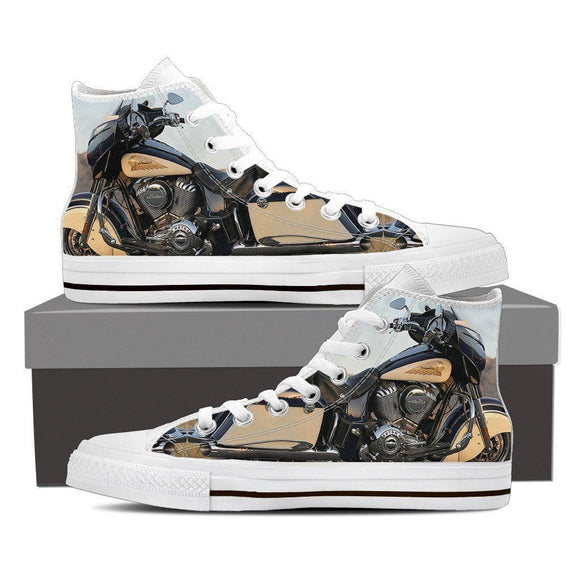 new indian motorcylce mens high top sneakers