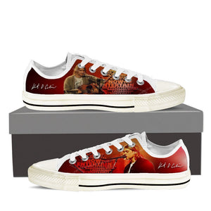 kurt cobain ladies low cut sneakers