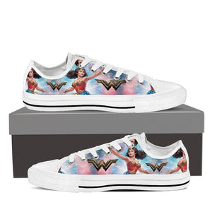 wonder woman mens low cut sneakers