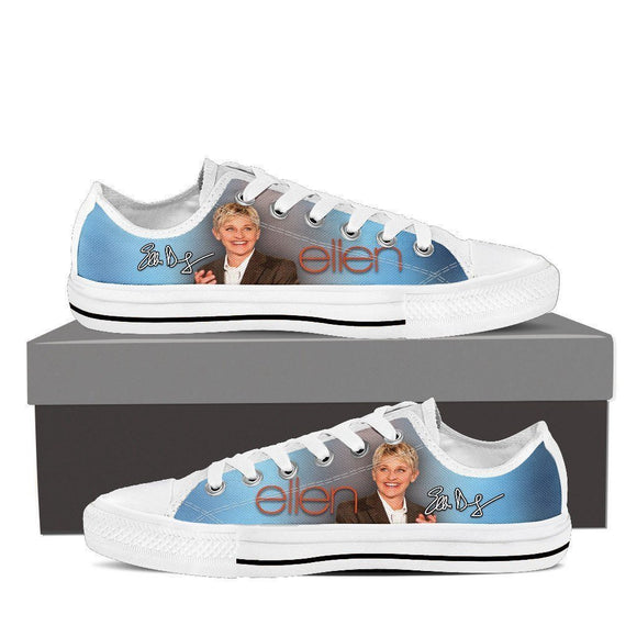 ellen degeneres mens low cut sneakers