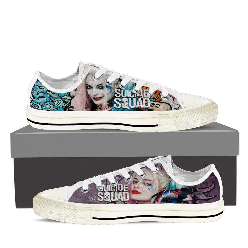 harley quinn ladies low cut sneakers
