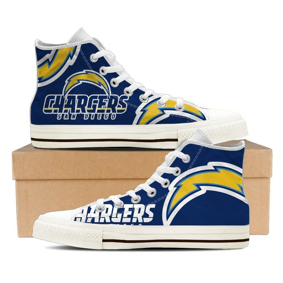 san diego chargers ladies high top sneakers
