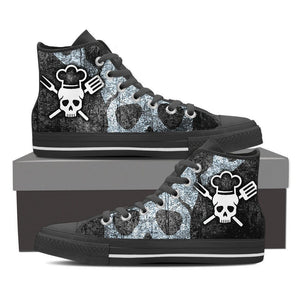 chef skull mens high top sneakers