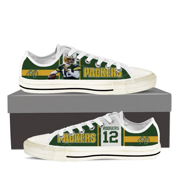 aaron rodgers mens low cut sneakers cut