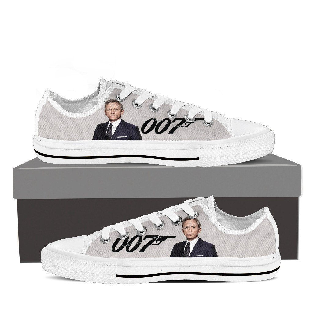 james bond ladies low cut sneakers