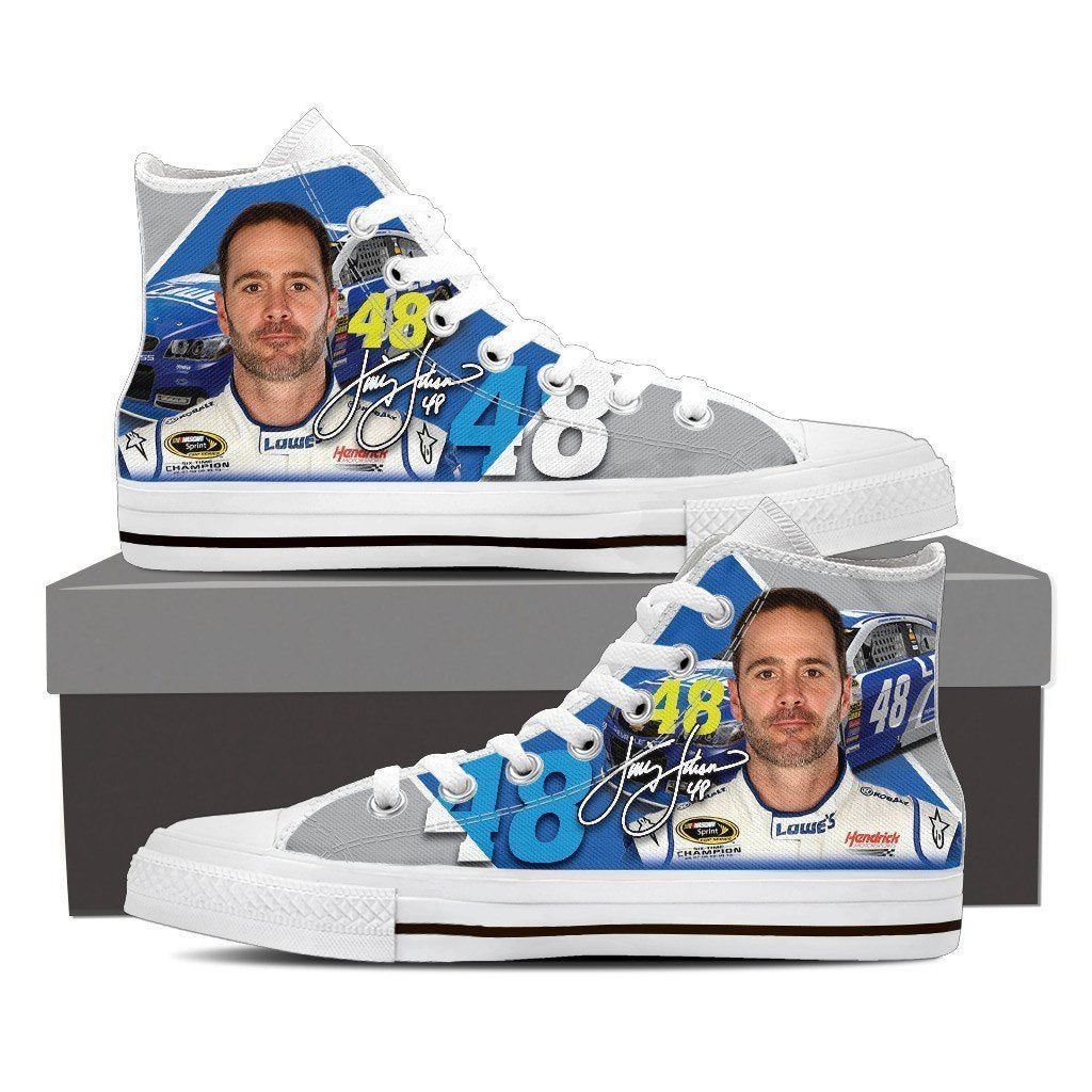 48 jimmie johnson nascar ladies high top sneakers