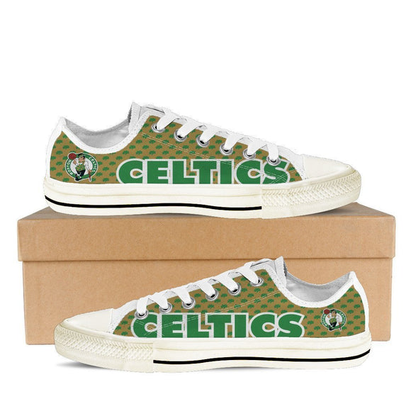 boston celtics ladies low cut sneakers