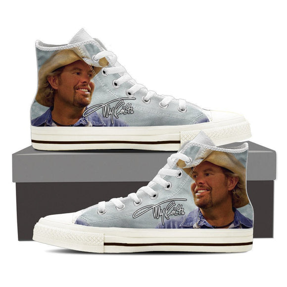 toby keith mens high top sneakers
