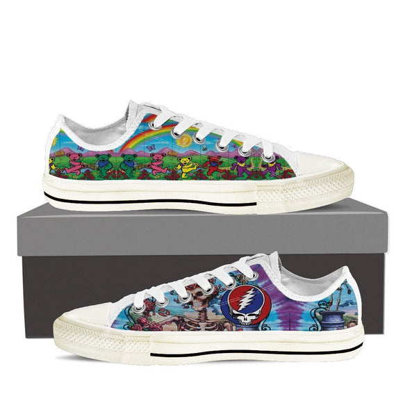 grateful dead ladies low cut sneakers