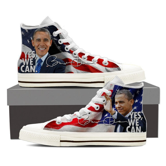 obama  ladies high top sneakers