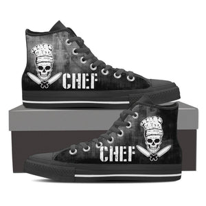 chef skull knifes mens high top sneakers