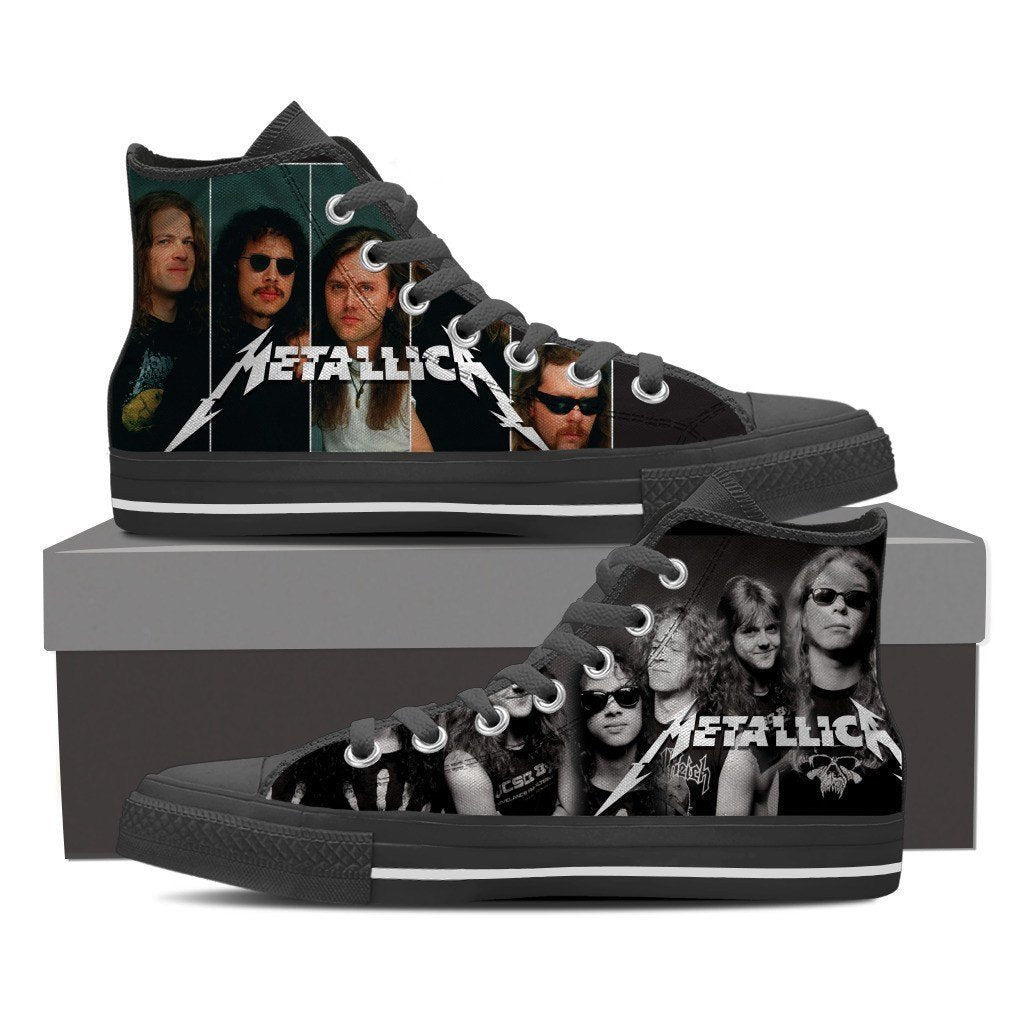 metallica ladies high top sneakers