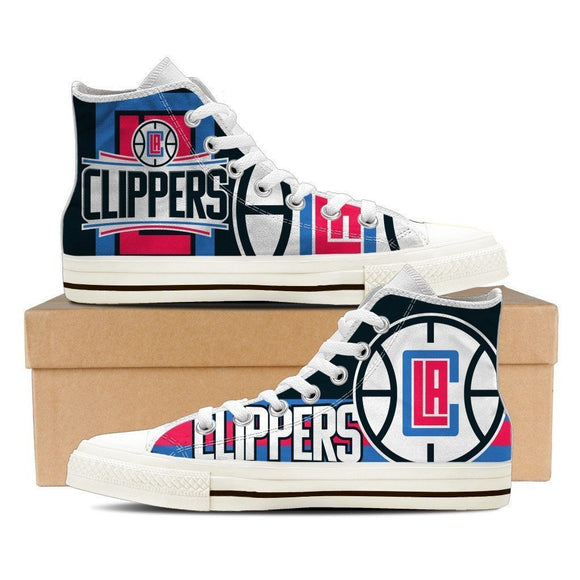 los angeles clippers ladies high top sneakers