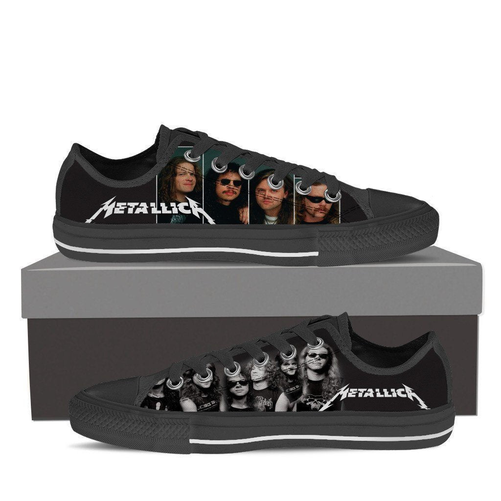 metallica mens low cut sneakers