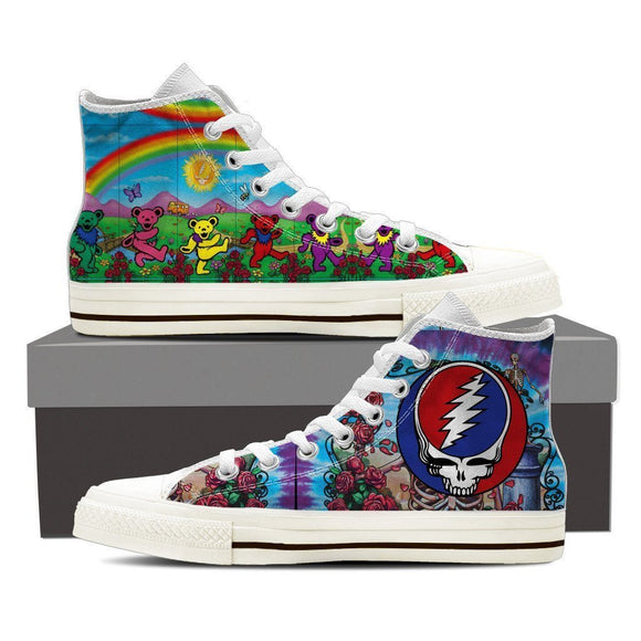 grateful dead ladies high top sneakers