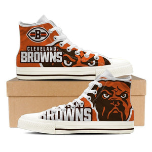 cleveland browns mens high top sneakers high top