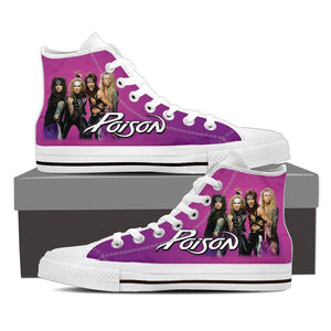 poison ladies high top sneakers