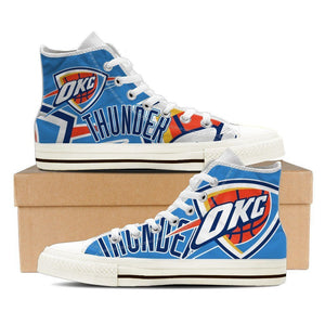oklahoma city thunder ladies high top sneakers