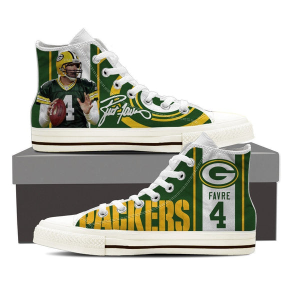 brett favre ladies high top sneakers