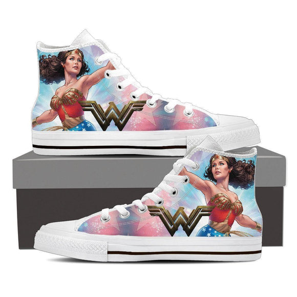 wonder woman mens high top sneakers
