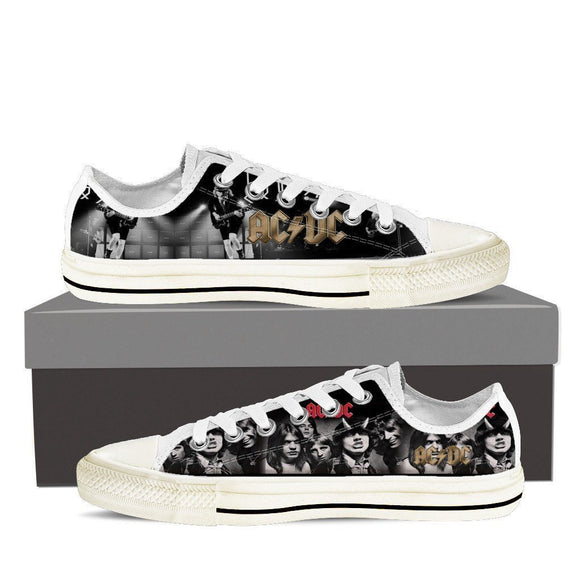 acdc band ladies low cut sneakers