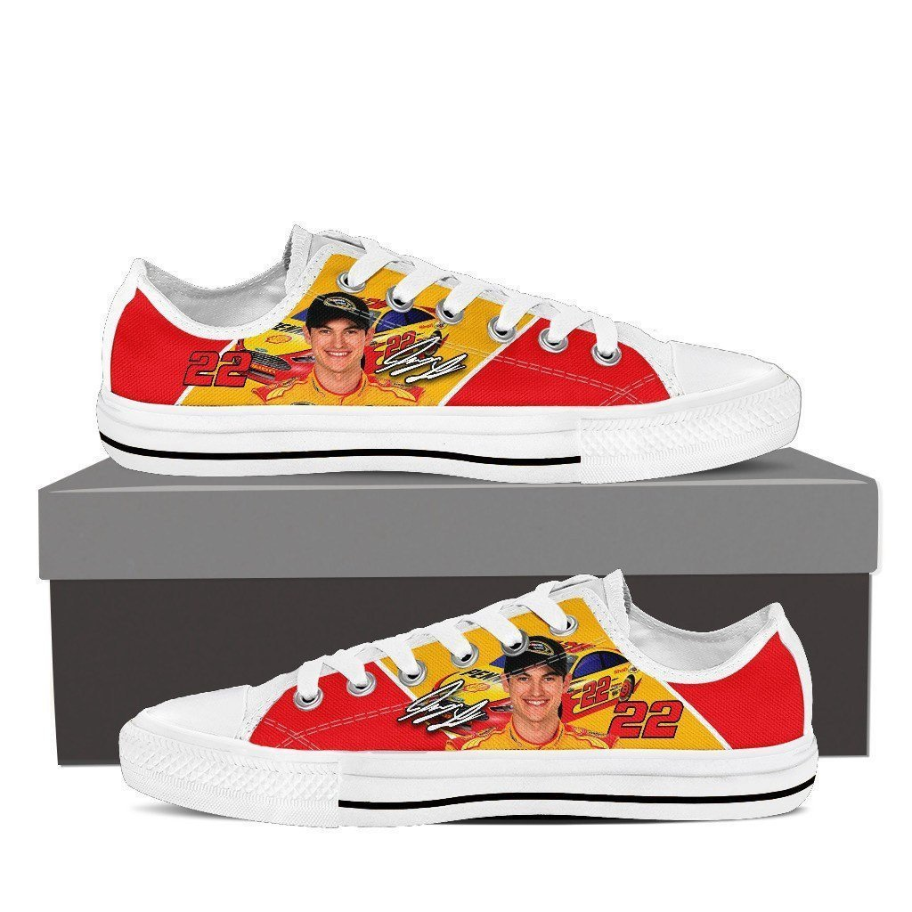 joey logano ladies low cut sneakers