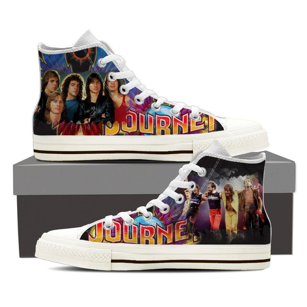 journey band ladies high top sneakers