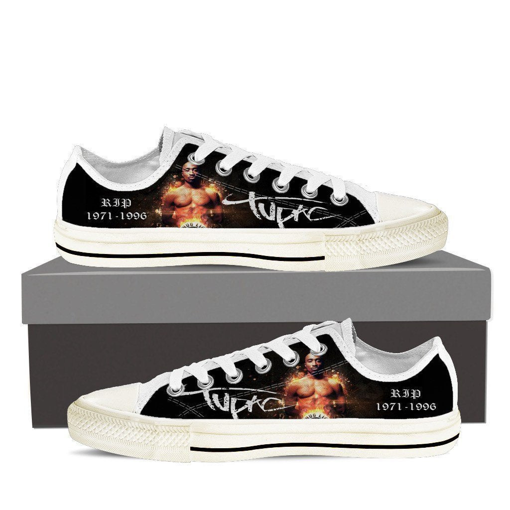 tupac shakur mens low cut sneakers cut
