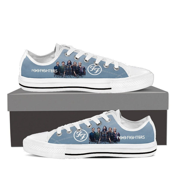 foo fighters mens low cut sneakers