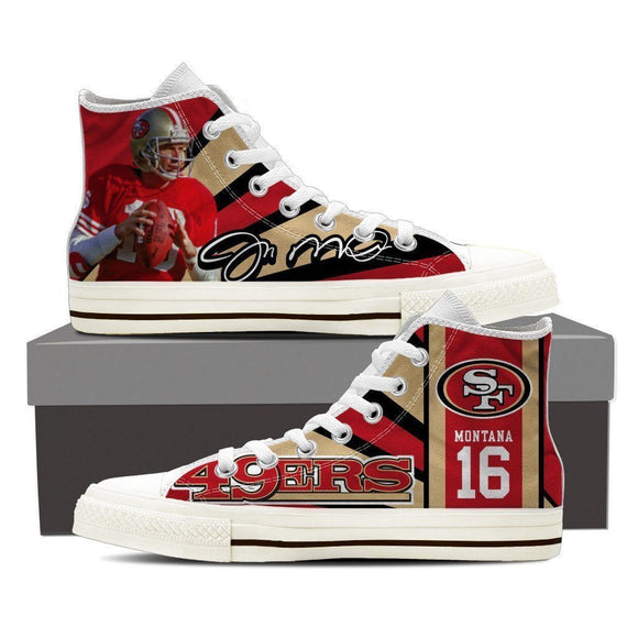 joe montana mens high top sneakers