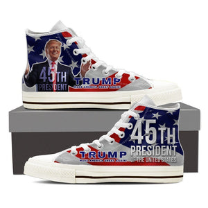 donald trump 45th president ladies high top sneakers