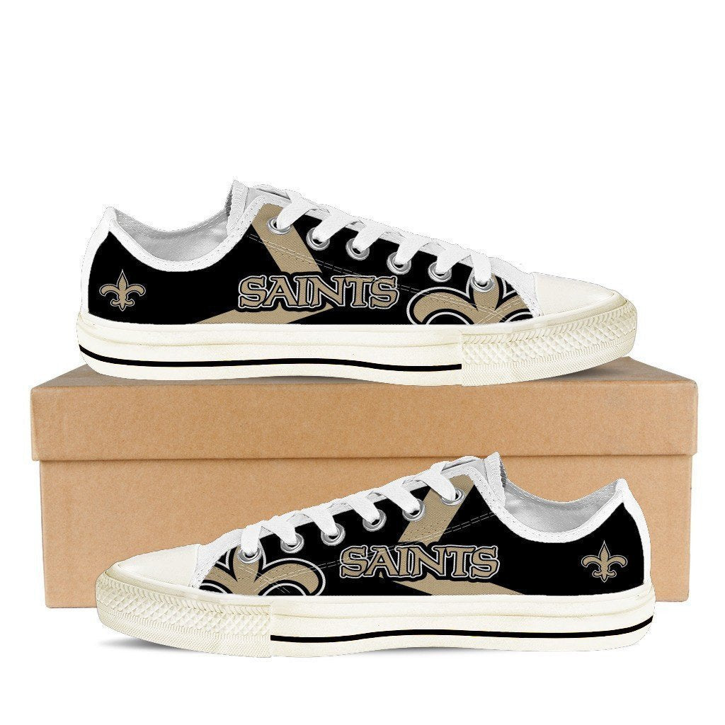 new orleans saints ladies low cut sneakers